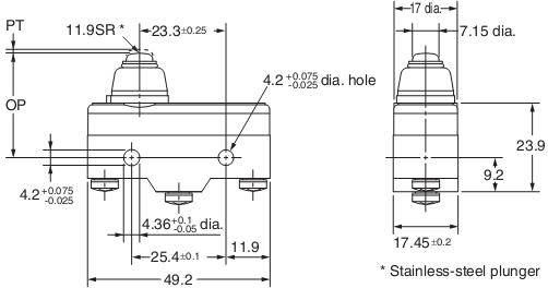 Công Tắc hành trình Omron Z-15GK55