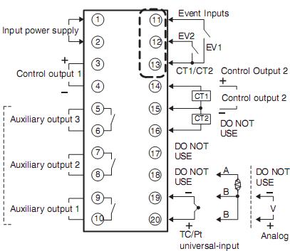 Điều Khiển Nhiệt Độ Omron E5AN-R3HML-500-N AC100-240